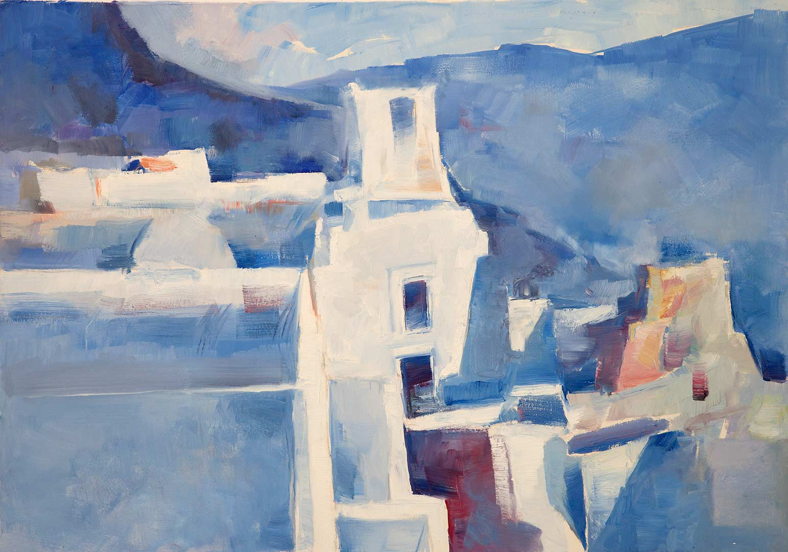 Oia painting by Christoforos Asimis