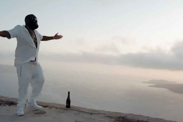 Rick Ross rapping Santorini Greece